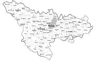 Harta Recas Primaria Orasului Recas Judetul Timis